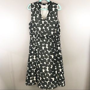 Anne Klein Dotted Chiffon Sleeveless Midi Dress